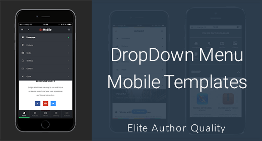 Dropdown Menu Mobile Templates
