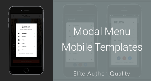 Modal Menu Mobile Templates