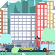 Flat City Vector - City with Buildings, Pedestrians, Cars, Planes... in Flat Design - VideoHive Item for Sale