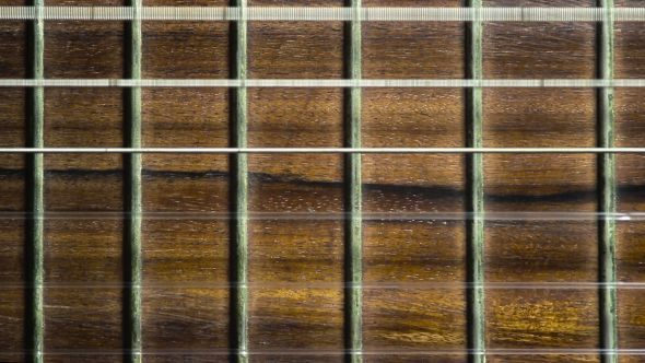 Acoustic Guitar Fretboard Close Up Background By Elerouxx