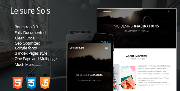Leisure Sols Onepage Company Template