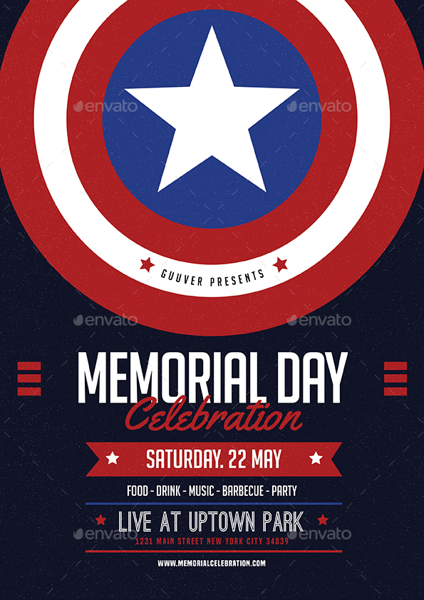 Memorial Day Event Flyer Vol 02 by Guuver | GraphicRiver