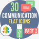 30 Communication & Connectivity Flat Iocns Part-2 - GraphicRiver Item for Sale