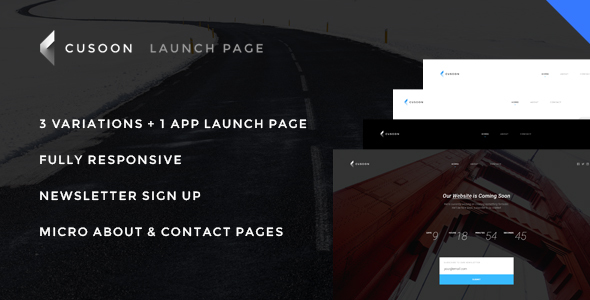 C U Soon – Launch Page, Coundown Page, Under Construction Page  – Responsive HTML Theme