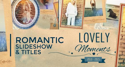 Romantic slideshow and titles