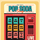 Retro Pop Soda Song Flyer - GraphicRiver Item for Sale