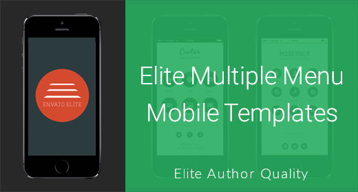 Multiple Menu Mobile Templates