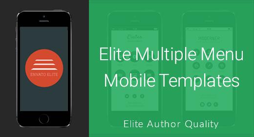 Multiple Menu Mobile Templates