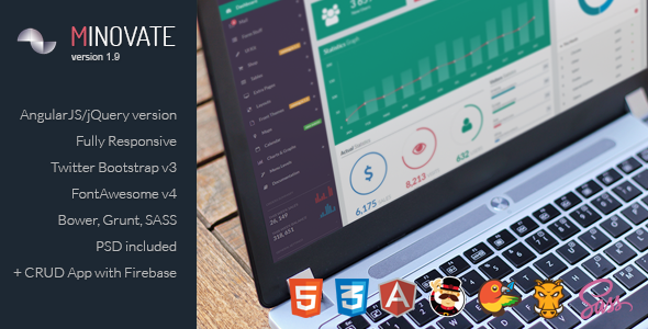 Minovate - Angular Admin Dashboard - Admin Templates Site Templates