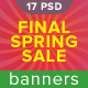 Final Spring Sale Banners - GraphicRiver Item for Sale