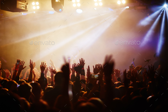 Popular singer concert - Stock Photo - Images