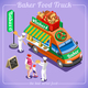 Bread Food Truck Isometric Vehicles - GraphicRiver Item for Sale