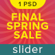 Final Spring Sale Slider - GraphicRiver Item for Sale