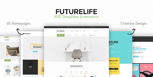 Futurelife - eCommerce PSD Template - Retail PSD Templates