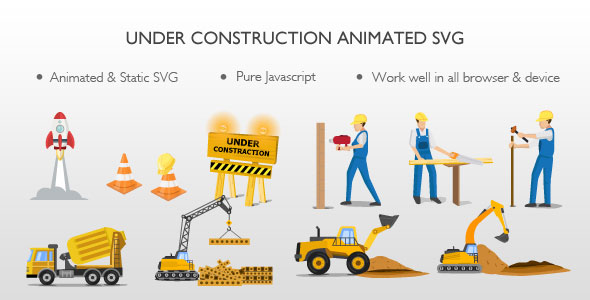 Under Construction Animated SVG - CodeCanyon Item for Sale