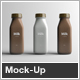 Milk Bottle Packaging Mock-Up - GraphicRiver Item for Sale