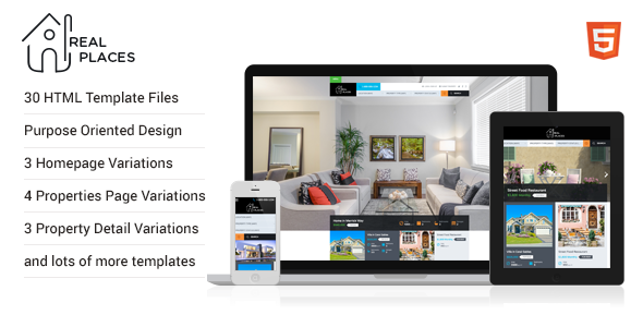 Real Places - HTML5 Template for Real Estate - Miscellaneous Site Templates