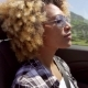 A Young Black Woman Driving - VideoHive Item for Sale