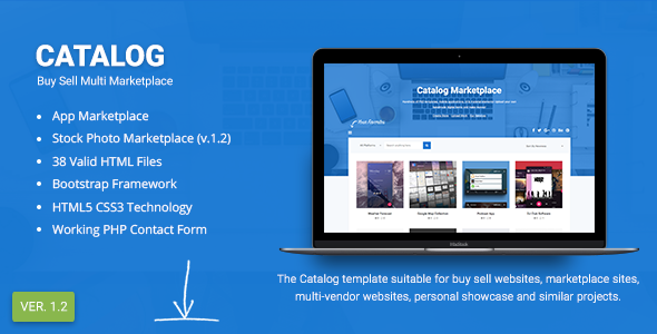 Catalog Buy Sell Marketplace Responsive Site Template By