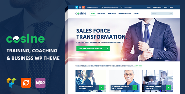 Cosine - Training, Coaching & Business WordPress Theme - Business Corporate