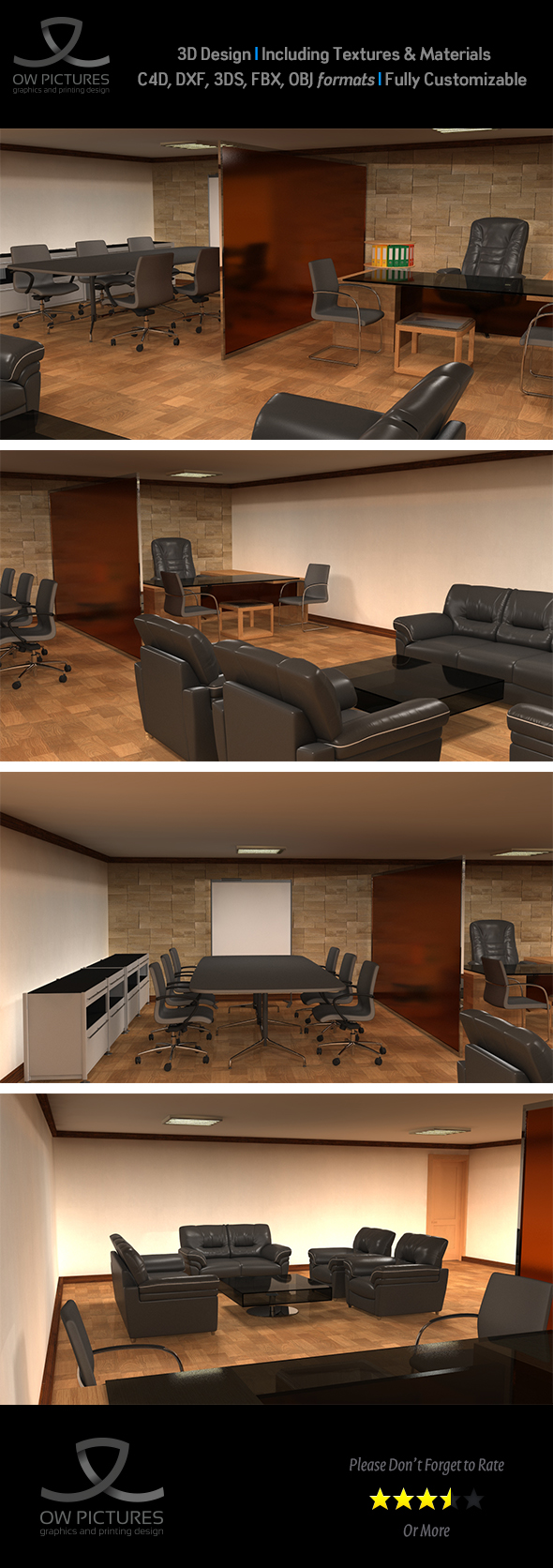 Office 3D Model - 3DOcean Item for Sale