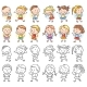 Set of Different Kids with Various Emotions - GraphicRiver Item for Sale
