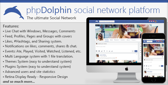 phpDolphin - Social Network Platform - CodeCanyon Item for Sale