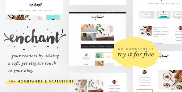 Enchant – Multi-Concept WordPress Blog Theme