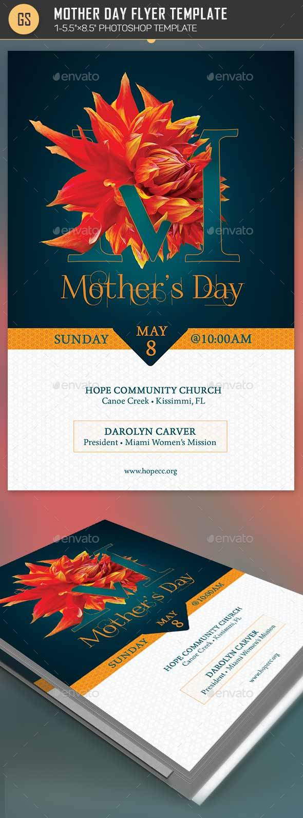 Mothers Day Flyer Photoshop Template By Godserv2 Graphicriver