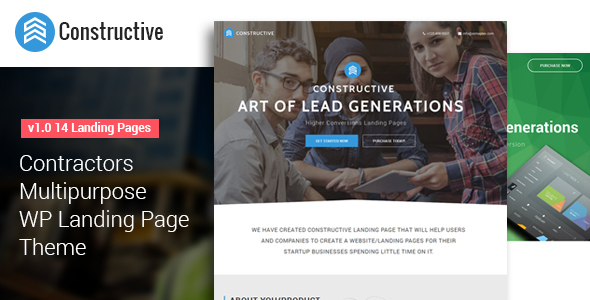 Constructive- Multipurpose WP Landing Page Theme