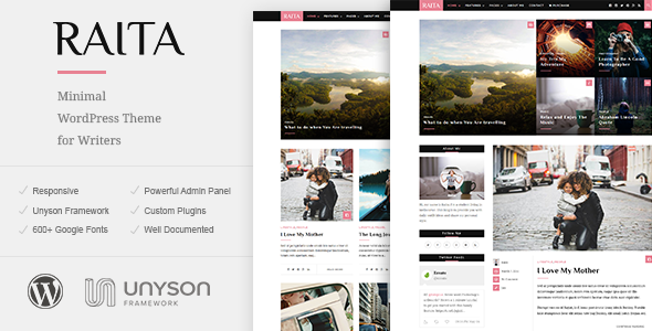 Raita – Minimal WordPress Theme for Writers