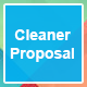 Cleaner Proposal Template - GraphicRiver Item for Sale