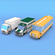 Low Poly Bus Truck Lorry - 3DOcean Item for Sale