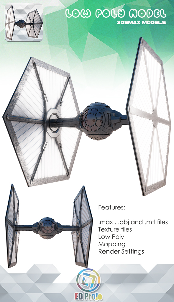 First Order TIE Fighter - (Star Wars) - 3DOcean Item for Sale