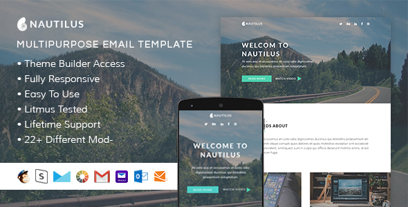 Nautilus – Responsive Email + StampReady Builder