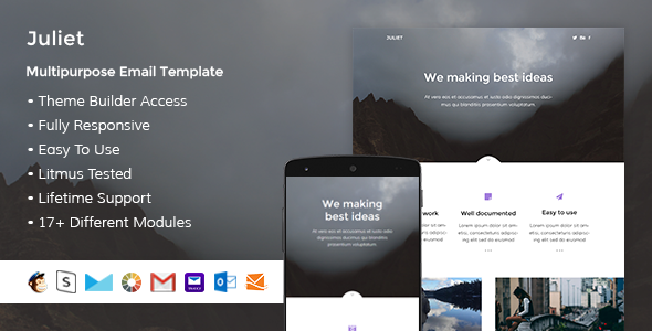 Juliet - Responsive Email + StampReady Builder - Email Templates Marketing