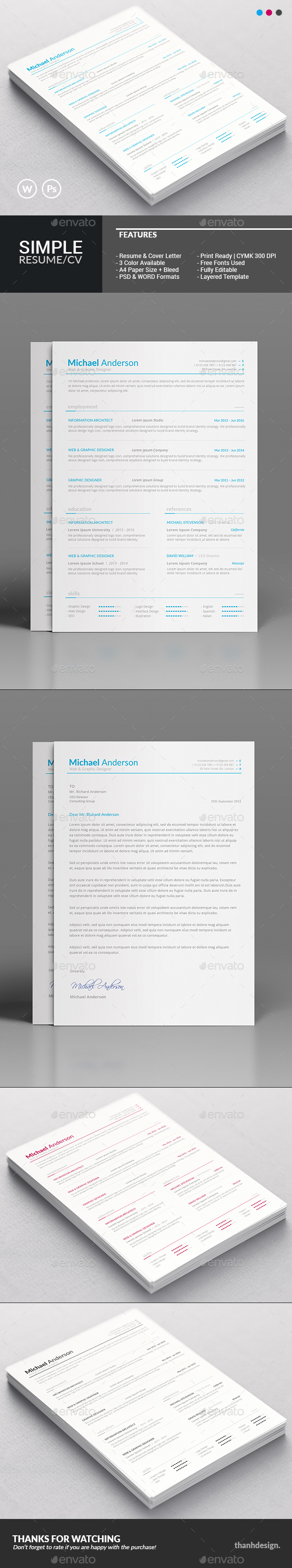 Resume CV & Cover Letter - Resumes Stationery