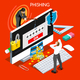 Phishing Concept Isometric People - GraphicRiver Item for Sale