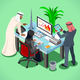 Arabic Muslim Isometric People - GraphicRiver Item for Sale
