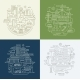 Line Design Compositions Set City Lifestyle - GraphicRiver Item for Sale