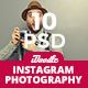 Photography Instagram Banners Ads - 10 PSD [New Size]