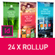 Green Rollup Stand Banner Display 24x Indesign Template  - GraphicRiver Item for Sale