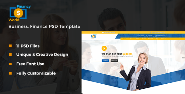 Financy World | Finance PSD Template - Corporate PSD Templates