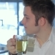 Of Man Drinks Tea At The Cafe - VideoHive Item for Sale