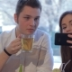 Girl Makes a Selfie With Her Boyfriend - VideoHive Item for Sale