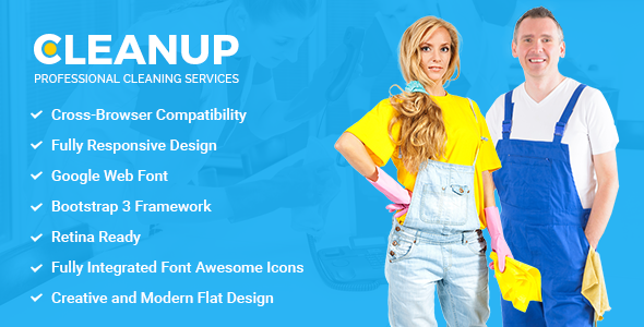 CleanUp – Professional Cleaning Services HTML Template