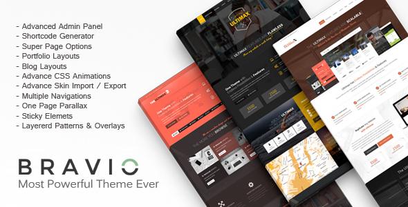 Bravio - Ultimate WordPress Theme