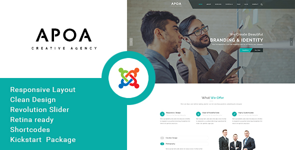 Apoa – Business Responsive Joomla Theme
