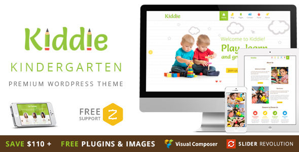 Kiddie – Kindergarten WordPress Theme