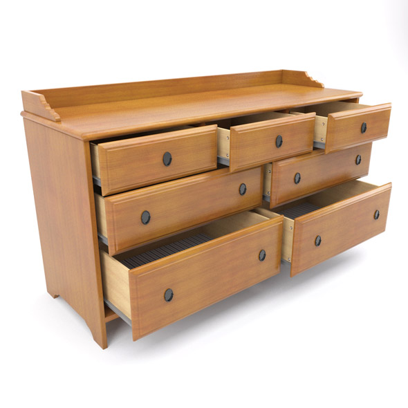 IKEA Leksvik Dresser - 3DOcean Item for Sale